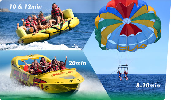 Adventure Pack 4 SPEED BOAT Parasailing Crazy Sofa.