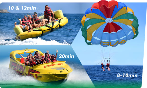 Adventure Pack SPEED BOAT, Parasailing, Crazy Sofa.