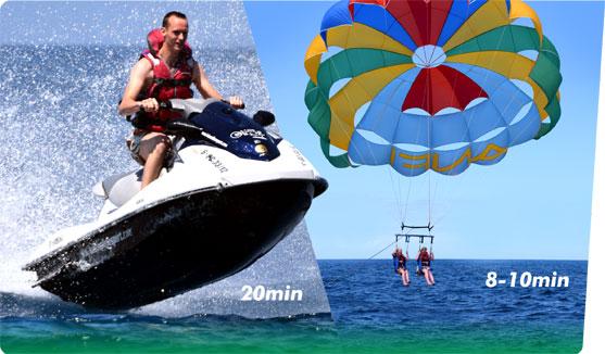 Funpack 2 Jet Ski & Parasail.
