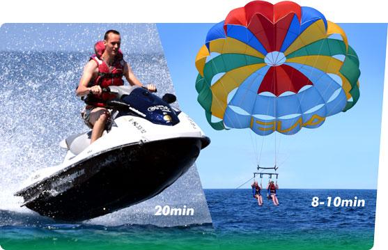 Fun Pack 2: Jet Ski, Parasailing.