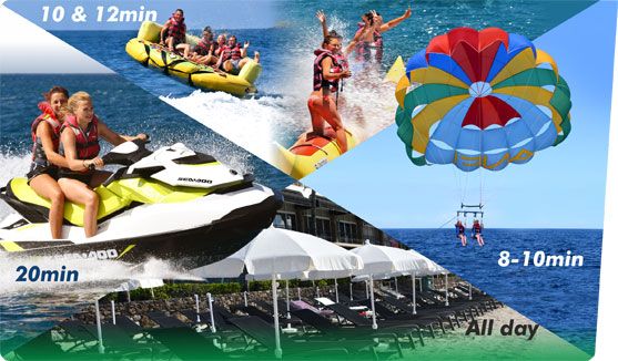 Sun Pack 1 Parasailing Banana Ride/Sofa Sunbed & Umbrella