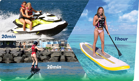 Sea Pack 3 - Jet Ski, Fly Board, Paddle Surf