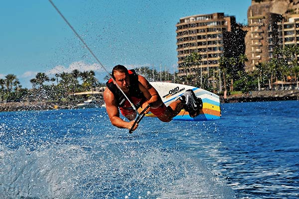 Anfi del Mar Water Sports - Wake board jump